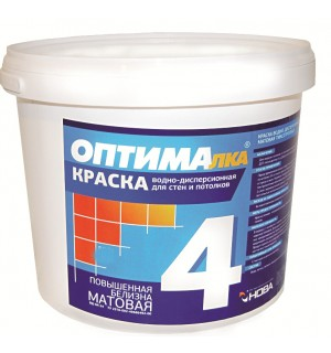 Краска для стен и потолков ОПТИМА-4 14 кг. Нова
